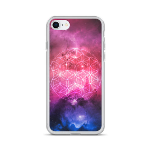 'Flower of Life Galaxy' iPhone case by Aussie Mineral Hub