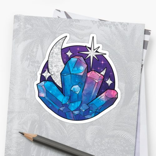 Cosmic Crystal Galaxy Sticker by Aussie Mineral Hub
