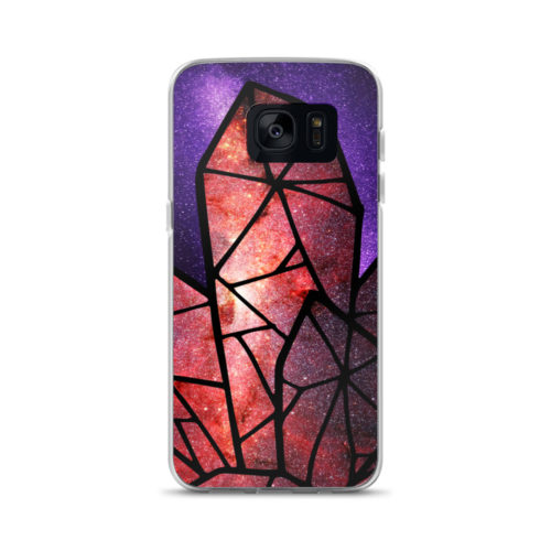 ?The Crystal Galaxies? Purple/Red phone case by Aussie Mineral Hub