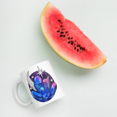 Cosmic Crystal Coffee Mug by Aussie Mineral Hub