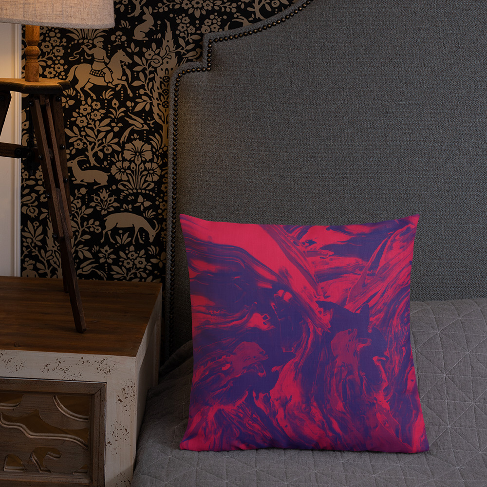'Red Depths' throw pillow by Aussie Mineral Hub